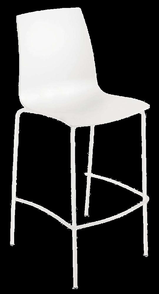 Барний стілець Papatya X-Treme BSL матовий білий