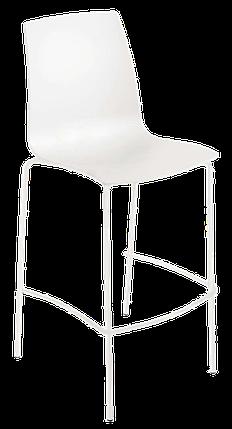 Барний стілець Papatya X-Treme BSL матовий білий, фото 2