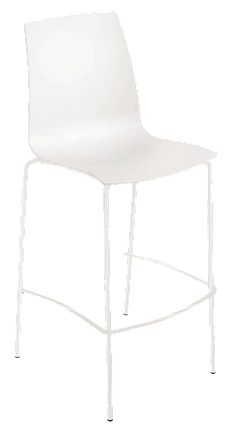 Барный стул Papatya X-Treme BSL матовый белый, фото 2