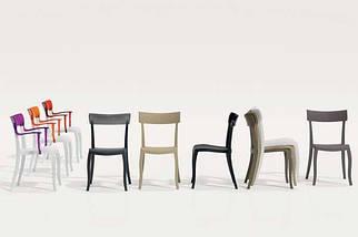 Кресло Papatya Hera-K черное сиденье, верх прозрачно-оранжевый, фото 3