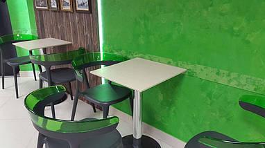 Кресло Papatya Luna антрацит сиденье, верх прозрачно-красный, фото 2
