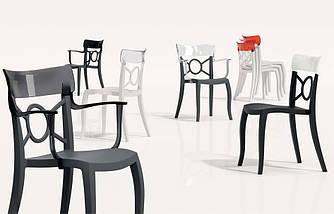 Кресло Papatya Opera-K сиденье черное, верх белый, фото 3