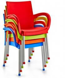 Крісло Irak Plastik Sumela алюмінієві ніжки помаранчевий, фото 2