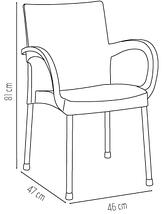 Крісло Irak Plastik Sumela алюмінієві ніжки помаранчевий, фото 3