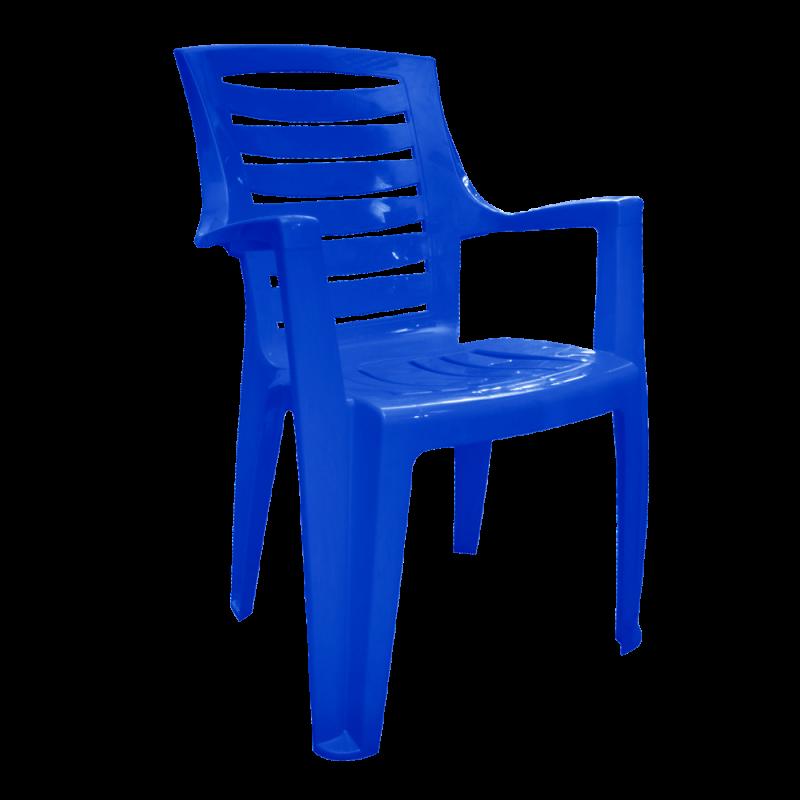 """Стул пластиковый """"Рекс"""" темно-синий"""