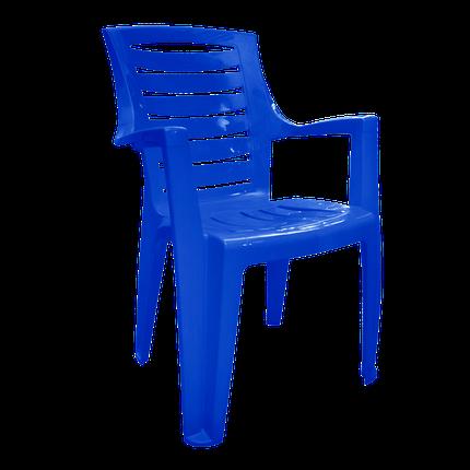 """Стул пластиковый """"Рекс"""" темно-синий, фото 2"""