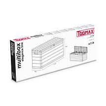 Сундук пластиковый Multibox Elegance Line 280 л теплый серый Toomax, фото 3