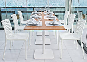 База столу Lotus Square 40x40x73 см антрацит Papatya, фото 2