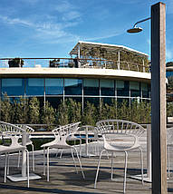 База стола Lotus Square 40x40x73 см антрацит Papatya, фото 2