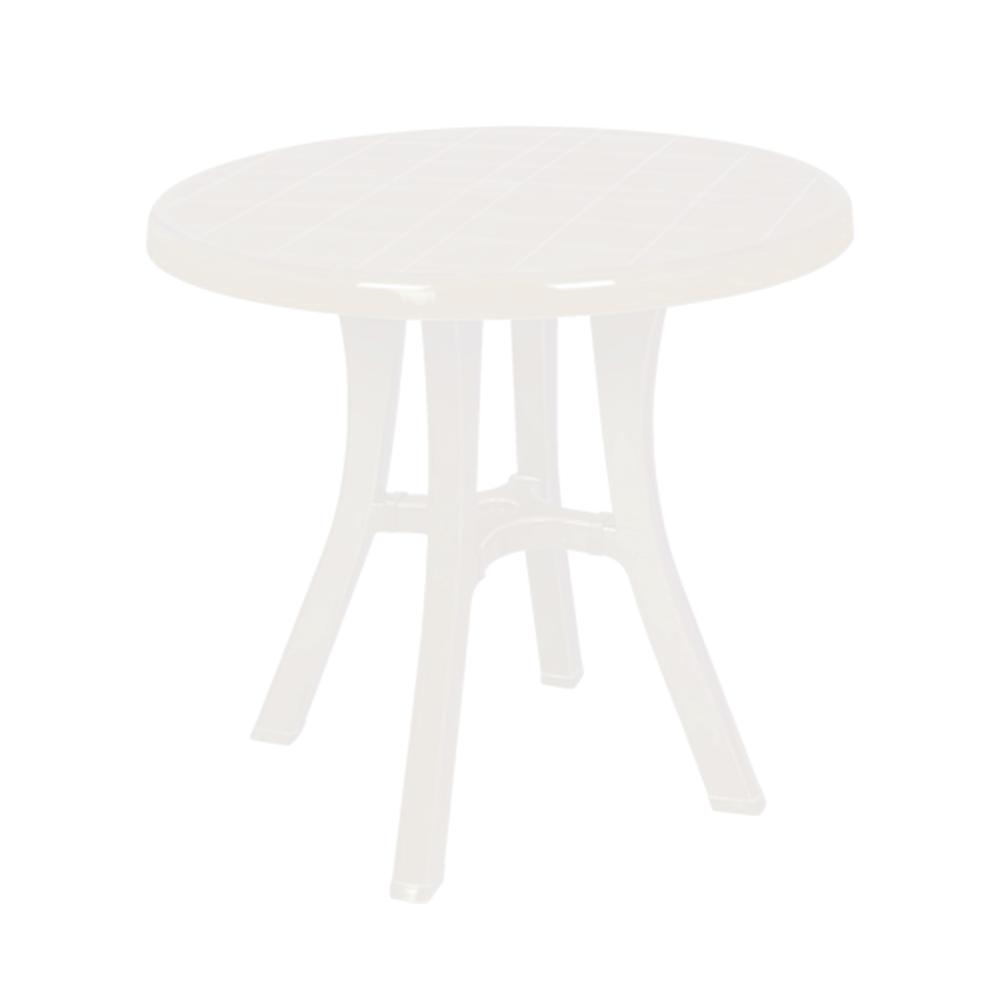 Стіл круглий Irak Plastik Royal 80 см білий
