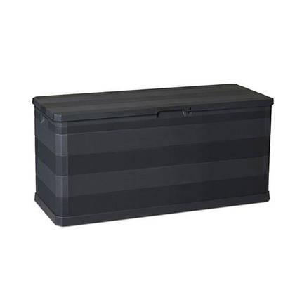 Сундук пластиковый Multibox Elegance Line 280 л черный Toomax, фото 2