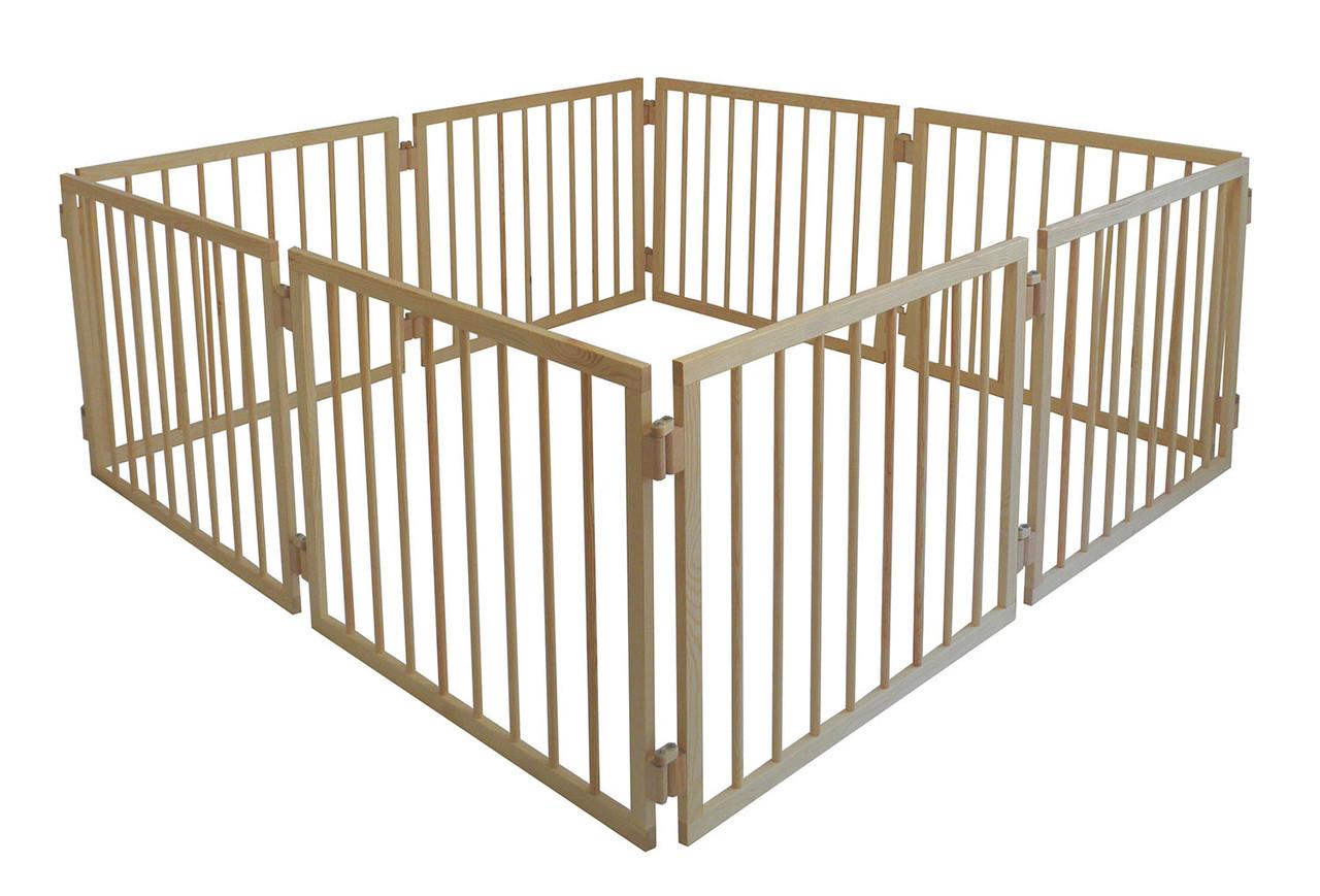 Манеж детский деревянный 63 см 8 секций Сосна (МН8)