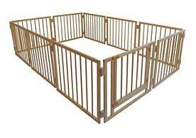 Манеж детский деревянный 72 см 10 секций с воротами Сосна (МД10)