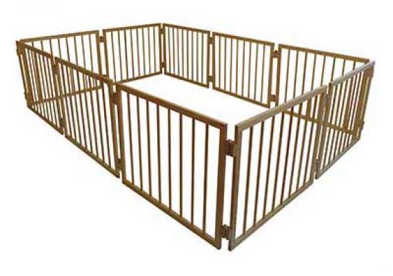 Манеж детский деревянный 63 см 10 секций Сосна (МН10)