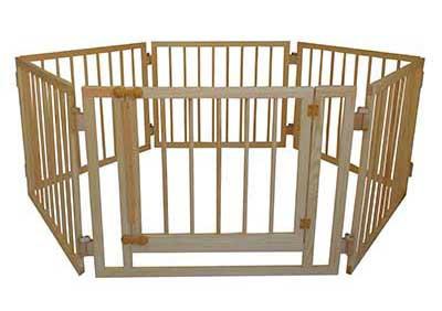 Детский деревянный манеж 72 см 6 секций с воротами Сосна (МД6)