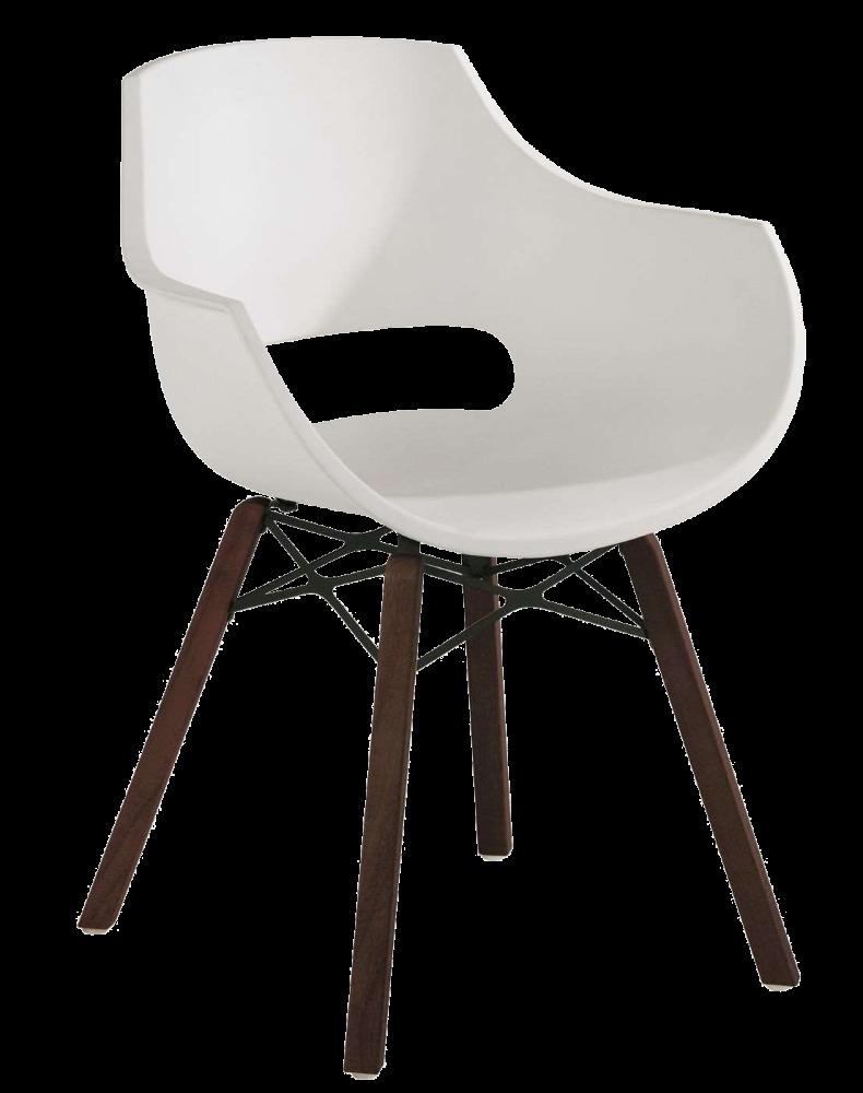 Кресло Papatya Opal Wox Iroko матовое белое