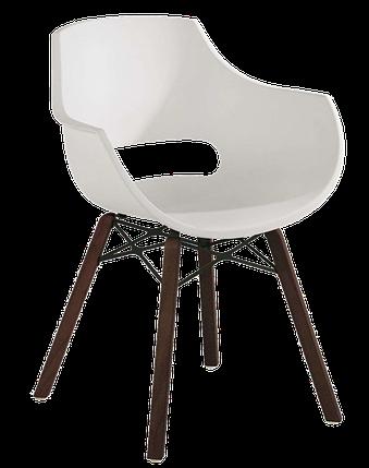 Кресло Papatya Opal Wox Iroko матовое белое, фото 2