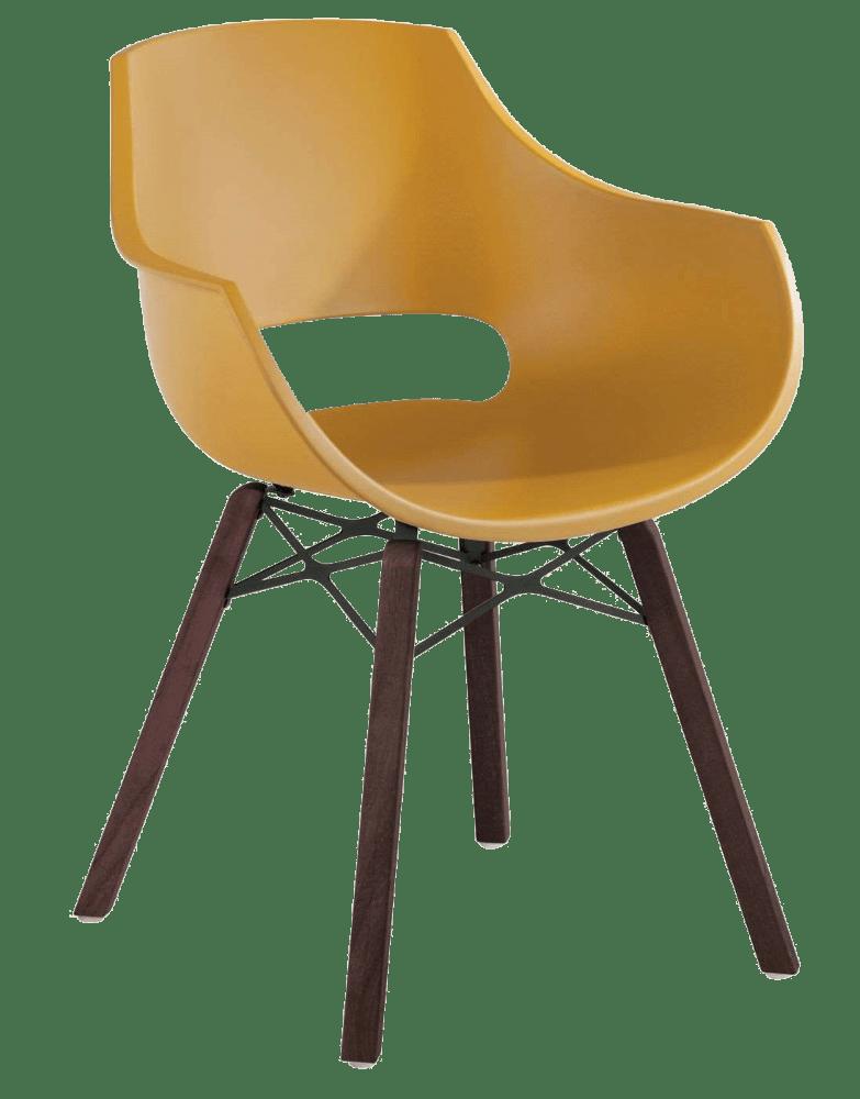 Кресло Papatya Opal Wox Iroko матовый желтый