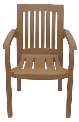 Кресло пластиковое Базилик Бежевый, фото 2