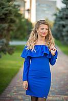 Платье женское с большим воланом 7512 Бизон