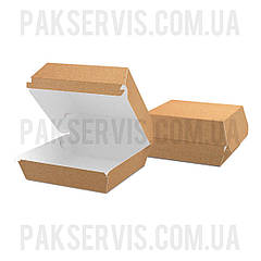 """Упаковка для бургера """"M"""" 115x115x64мм Крафт 1/100"""