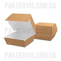 """Упаковка для бургера """"XL"""" 120x120x93мм Крафт 1/100"""