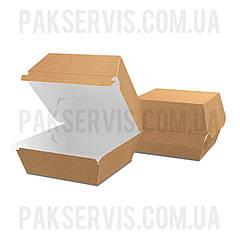"""Упаковка для бургера """"XL"""" 120х120х93мм Крафт 1/100"""