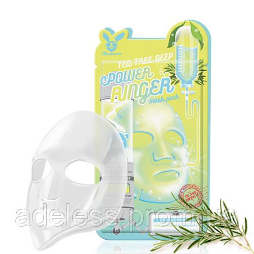 Успокаивающая тканевая маска с экстрактом чайного дерева Elizavecca Tea Tree Deep Power Ringer Mask Pack