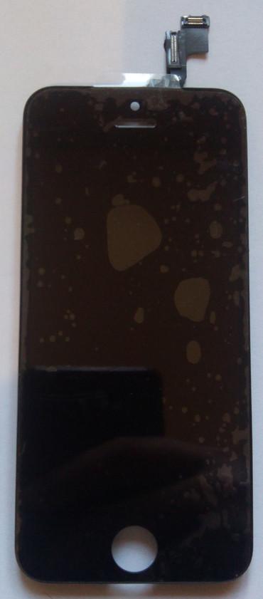 Дисплей модуль iPhone 5s  в зборі з тачскріном чорний, оригінал (переклеєне скло)