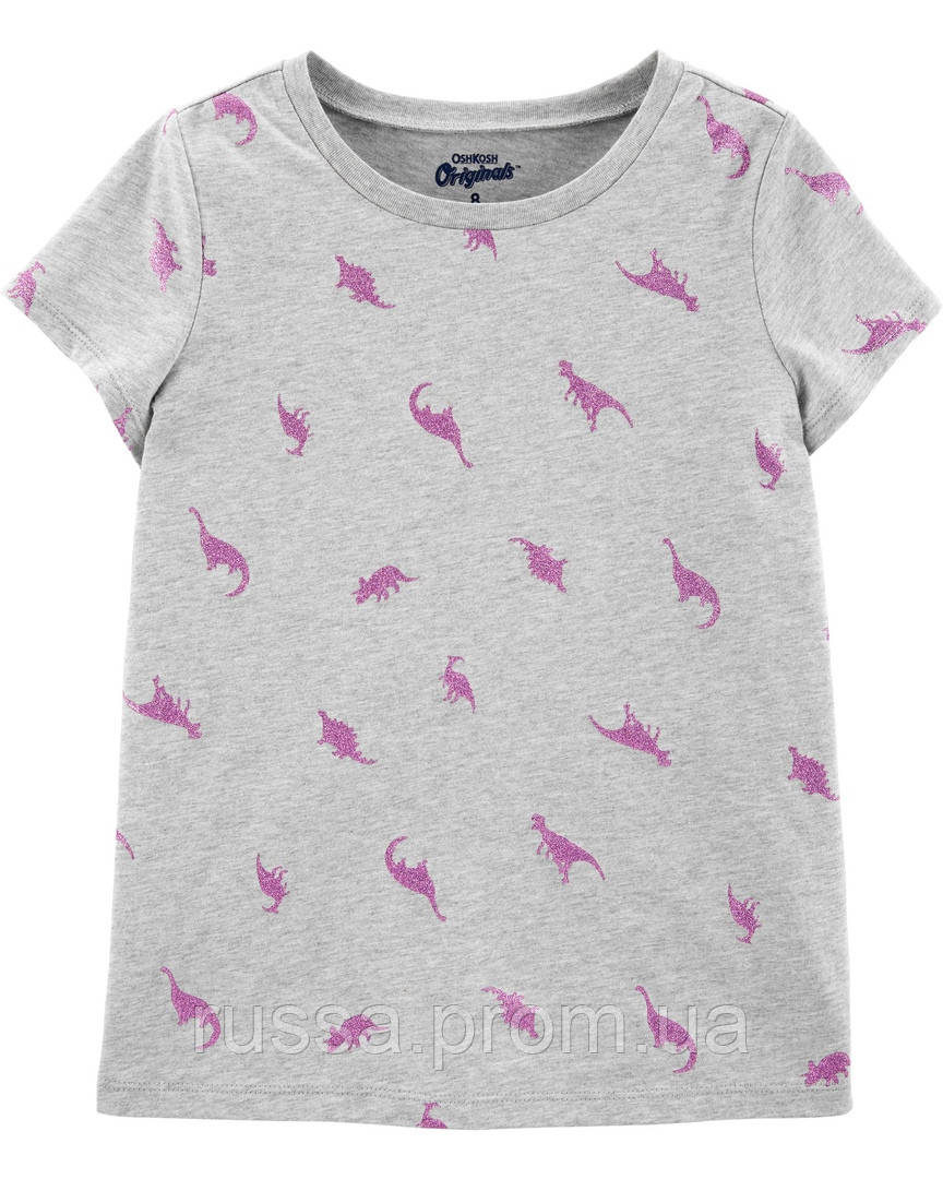 Детская трикотажная футболка Дино OшКош для девочки
