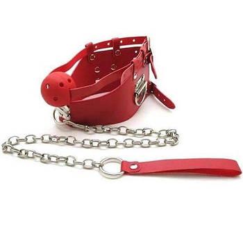 Красный кляп с цепью