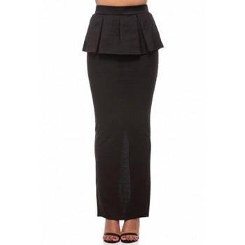 Элегантная с баской юбка макси длины