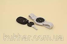 """Набір """"Годинник ключ та брелок"""" срібні"""