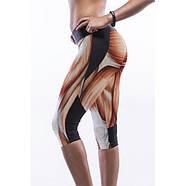 Легинсы короткие с принтом мускул, фото 2