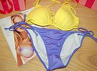 Купальник Victoria's Secret  push-up анютины глазки (32B+S)