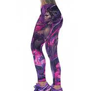 Леггинсы с принтом женщины-воина для йоги, фото 3