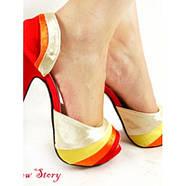 РАСПРОДАЖА! Яркие но нежные туфли, стильные, на высокой платформе с грациозной шпилькой, фото 2