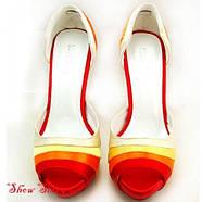 РАСПРОДАЖА! Яркие но нежные туфли, стильные, на высокой платформе с грациозной шпилькой, фото 3