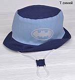 Летняя Панамка для мальчика Челентанка детская ткань лён, фото 4