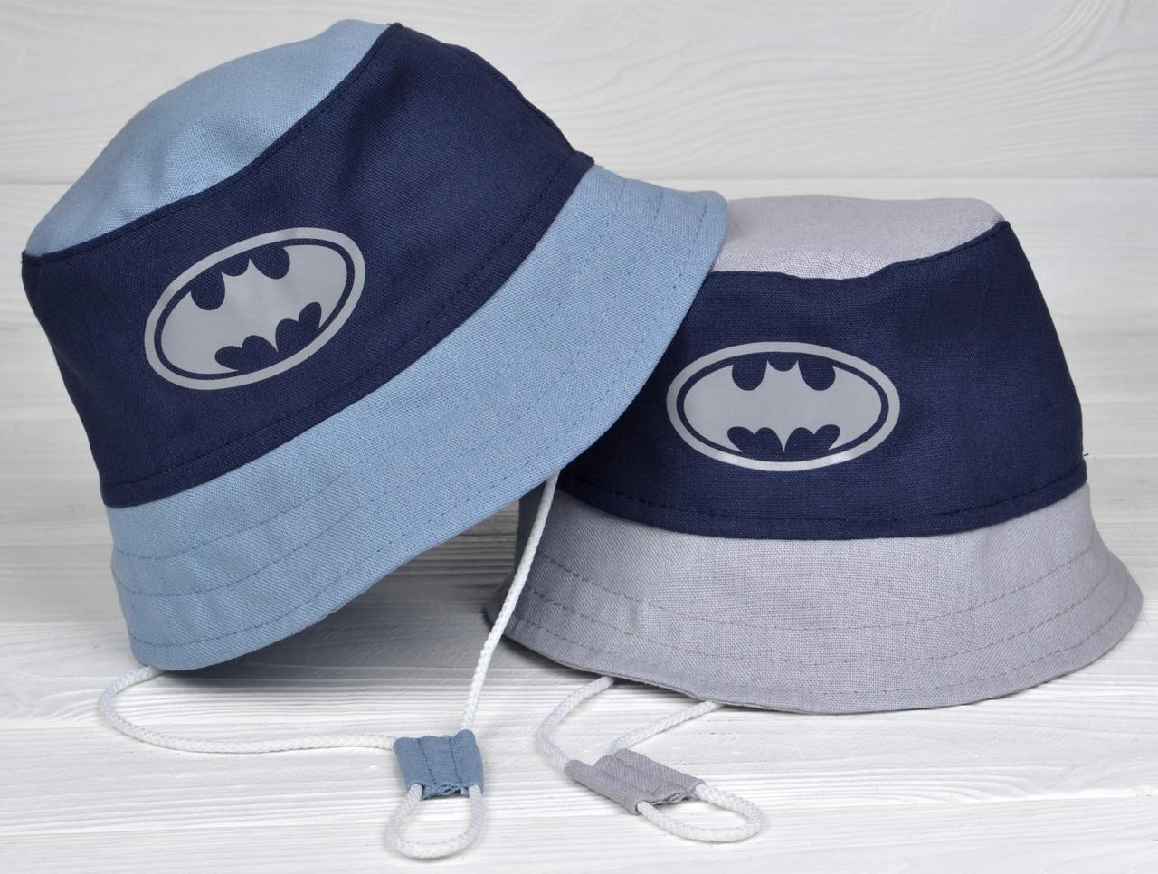 Летняя Панамка для мальчика Челентанка детская ткань лён