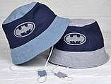 №272 Бетмен светоотражающая 2-4 года: р.48-50 и 50-52. Детская панамка для мальчика., фото 5