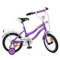 Детский велосипед PROF1 14д сиреневый, фото 1