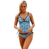 Светло синий купальный костюм с Push Up, фото 2