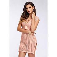 Розовое пляжное платье с шнурочком, фото 3
