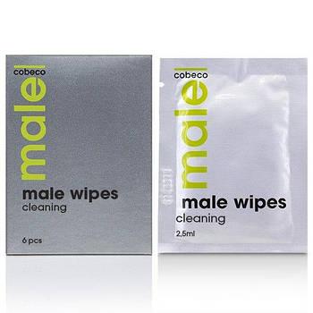 Очищаючі серветки для чоловіків MALE Cobeco Cleaning Wipes (6x2,5ml)