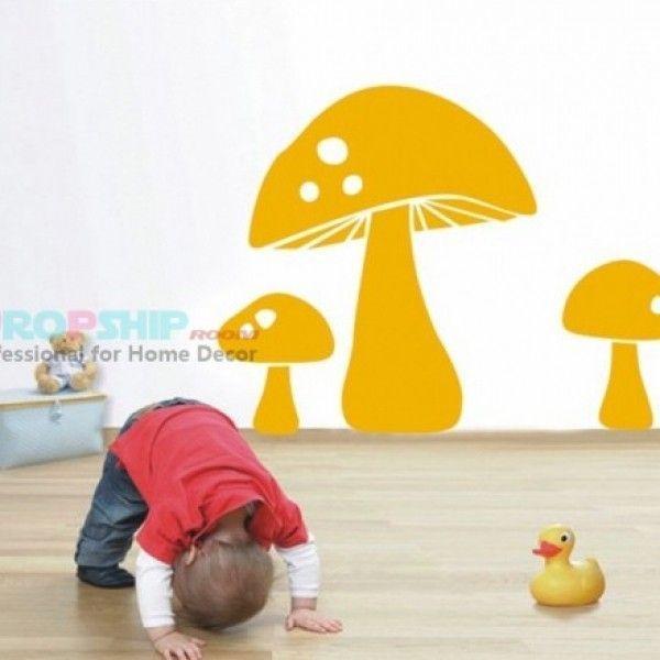 РАСПРОДАЖА! Виниловая наклейка - Оранжевые грибы