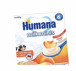 Humana з персиком і з натуральними пребіотиками з 6 міс пластик, 4*100г