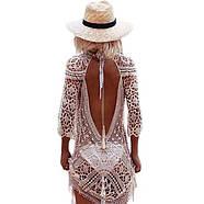Вязаное платье с открытой спиной, фото 2