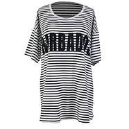 Черно белая пляжная футболка, фото 2