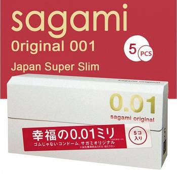 Ультратонкие презервативы Sagami Original 0.01мм, 5 шт